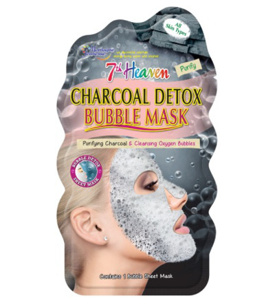 7th Heaven face mask charcoal detox bubble sheet