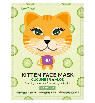 Kitten sheet face mask cucumber & aloe