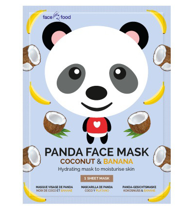 Panda sheet face mask coconut & banana