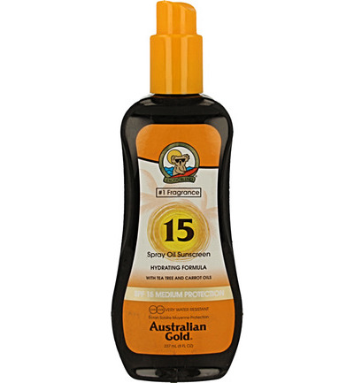 Spray oil SPF15