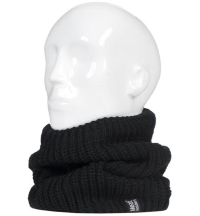 Mens neck warmer black larvic one size