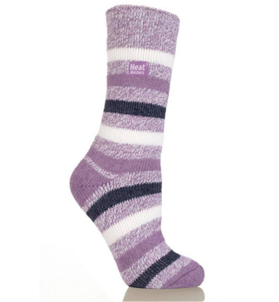 Ladies fashion twist socks 4-8 mulberry