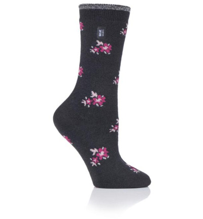 Ladies ultra lite socks bellis charcoal 4-8