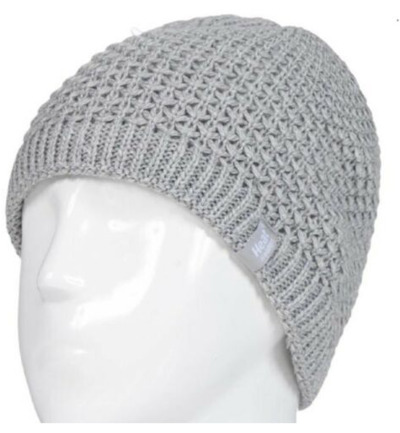 Ladies cable hat nora light grey one size