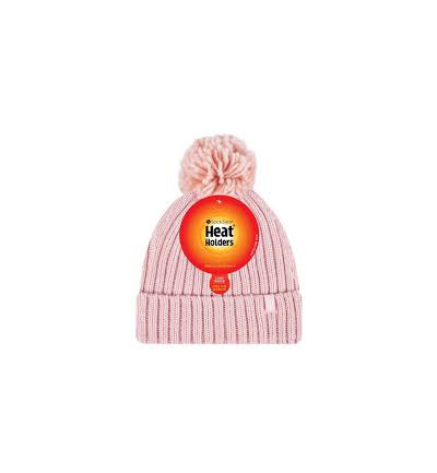 Ladies pom pom hat arden coral one size