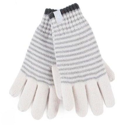 Ladies cable gloves M/L Oslo cream