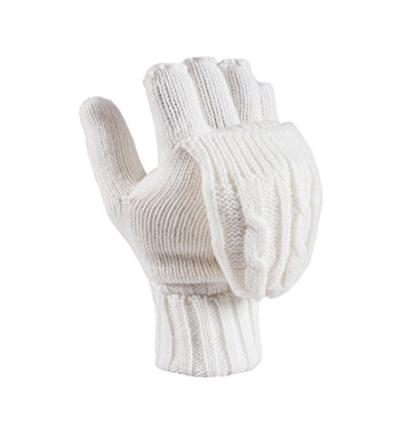 Ladies converter gloves light grey one size