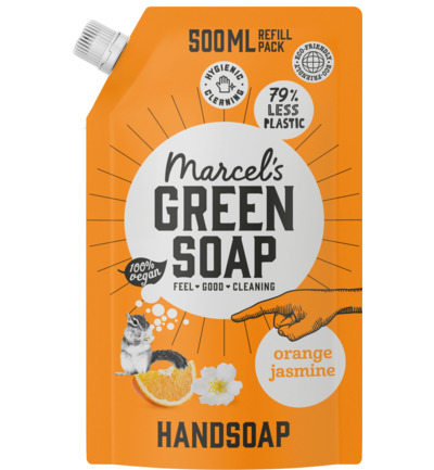 Handsoap orange & jasmine refill
