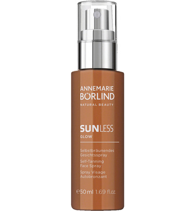 Sunless glow selftanning face spray