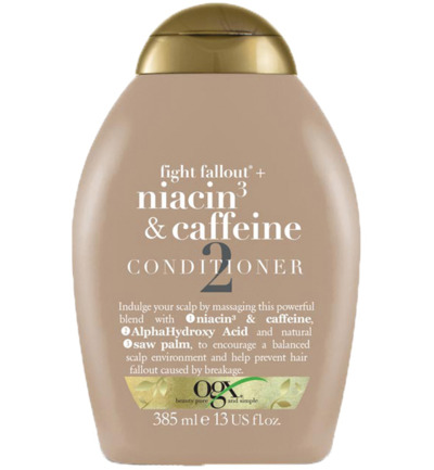 Conditioner fight fallout niacine & caffeine