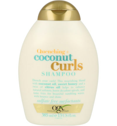 Shampoo quenching coconut curls