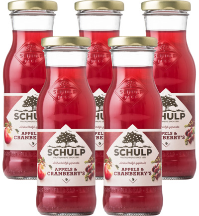 Appel & cranberry sap 5 pack