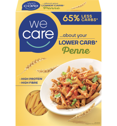 Lower carb pasta penne