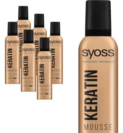 Mousse keratine haarmousse 6-pack