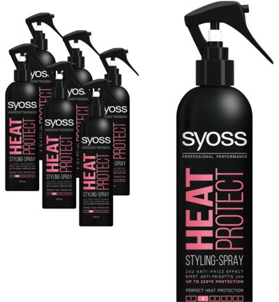 Styling spray heat protect 6-pack