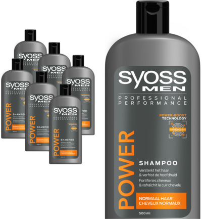 Men power & strength shampoo 6-pack