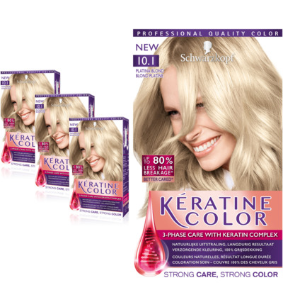 Keratine Color Haarverf 10.1 Platina Blond Trio
