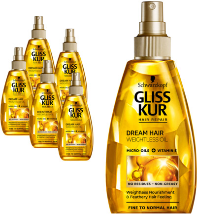 Dream Hair Weightless Oil 6 pack