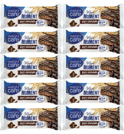 Mijn moment snackreep pure chocolade - 10 pack