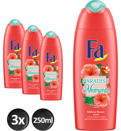 Paradise Moments shower trio