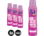 Pink Passion deo spray trio