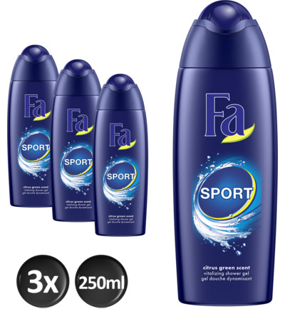 Sport shower gel trio