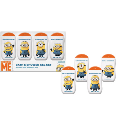 Minions Bath & Shower Gel Set (4 x 75ml)