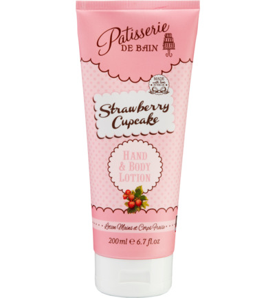 Body Lotion Strawberry Cupcake