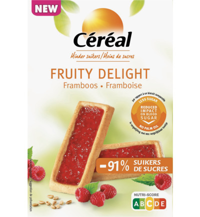 Fruity Delight Framboos - Minder Suikers