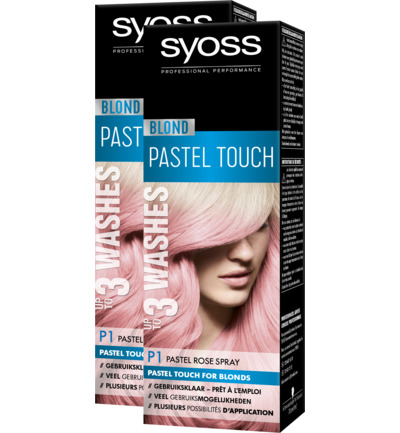 Blond P1 Pastel Rose 1-2 weken Spray Haarverf Duo