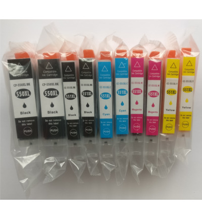 Set 10x inktcartridge alternatief voor PGI550XL en CLI551XL serie