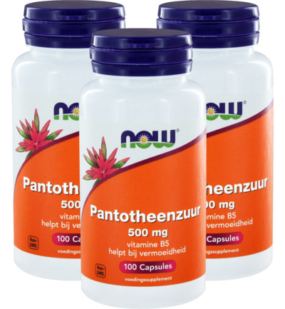 NOW Pantotheenzuur 500 mg (B5) trio