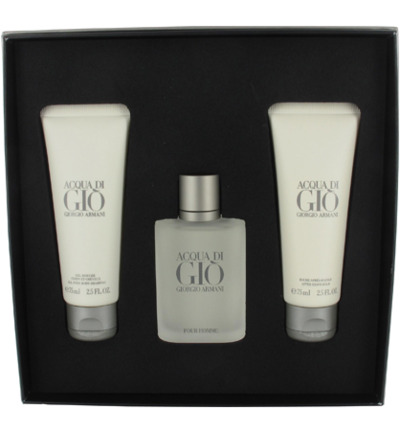 Acqua Di Gio Eau de Toilette + Douche Gel + After Shave Balm Geschenkset