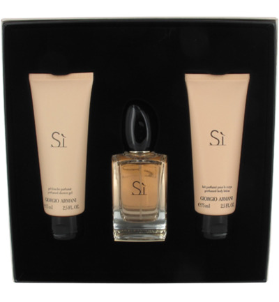 Si Eau de Parfum + Douche Gel + Body Lotion Spray Geschenkset