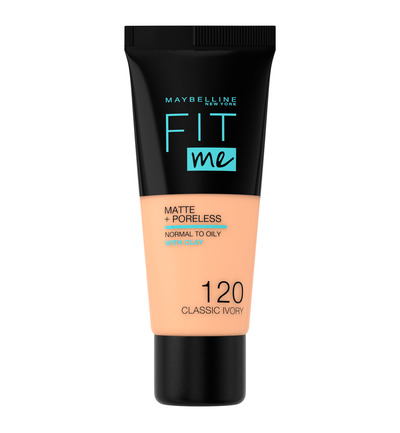 Fit Me matte & poreless foundation 120 clas ivory