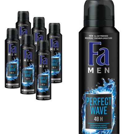 Men deodorant spray perfect wave 6 pack