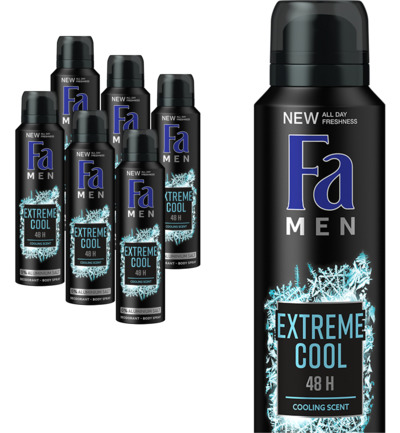Men deodorant spray extreme cool 6 pack