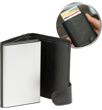 Card Guard Protector Wallet – Black
