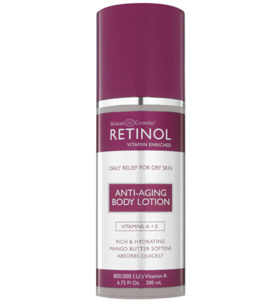retinol anti aging body lotion