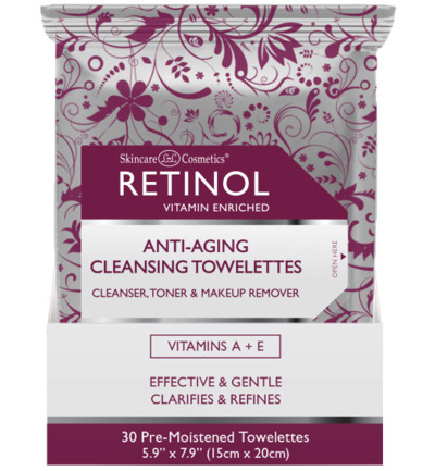 retinol a aging cleansing tow
