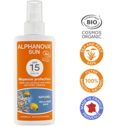 Sun vegan spray SPF15 bio
