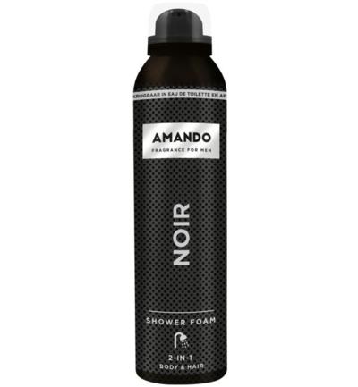 Noir shower foam