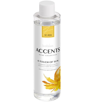 Accents diffuser refill a touch of sun