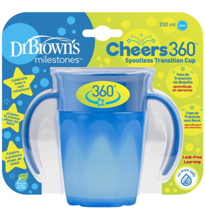Cheers 360 cup blauw 200 ml