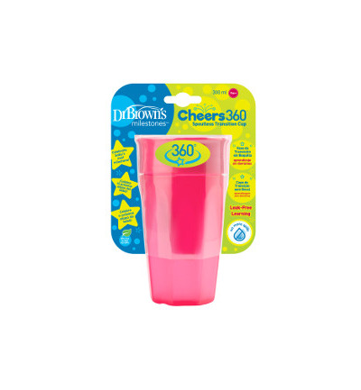 Cheers 360 cup roze 300 ml