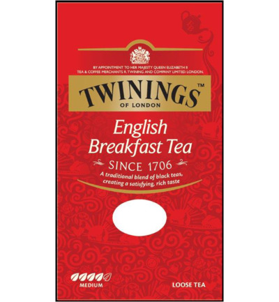 English breakfast tea karton