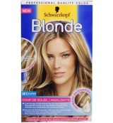Blonde coupe de soleil highlights light