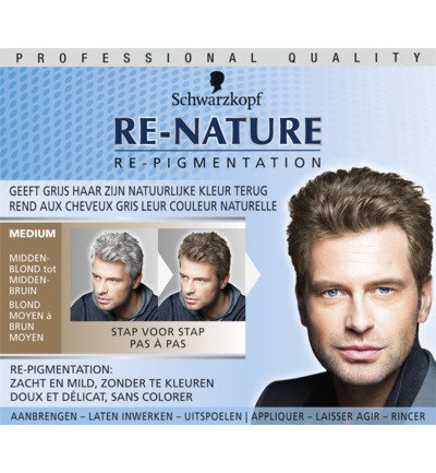 Re-Nature haarverf man midden blond t medium bruin