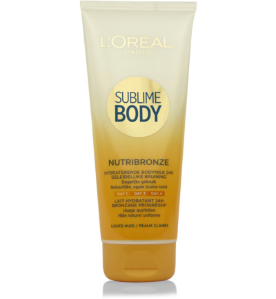 Sublime Body expertise nutribronze bodymilk lichte huid