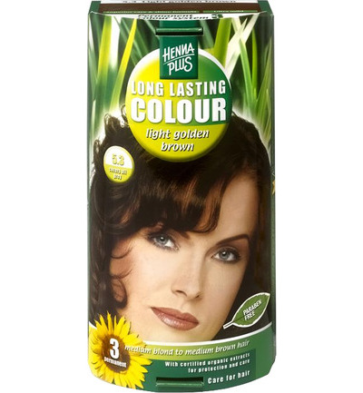 Long lasting colour 5.3 golden brown